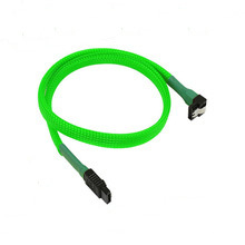Flat 7 Pin SATA Cable with Clips Sleeved for Laptop