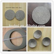 Malla de filtro de fieltro de fibra no tejida sinterizada de acero inoxidable