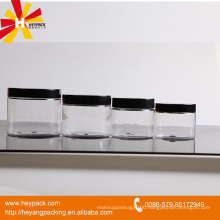 PET clear plastic jars screw lid