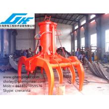 Full rotary electrical hydraulic log grab