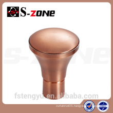 New Shape Window Decorative Drapery Curtain Iron Rod Finials End Caps,Cover,Plated Anitque Copper