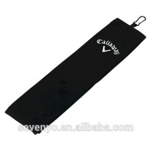 Golf towel 100% cotton black golf towel GYM sport towel customized logo ST-013