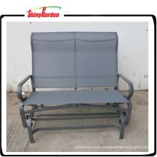 Silla columpio al aire libre con asiento plegable Loveseat Bench Glider