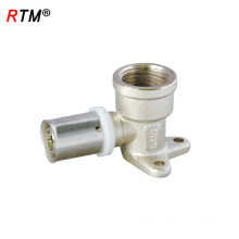 B17 4 13 press fitting for pex al pex pipe brass fitting with wing