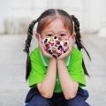 Atmungsaktive, individuell bedruckte Baumwoll-Gesichtsmaske, Babygewebe
