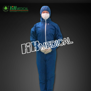Coverall nonwoven warna biru