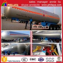 Reboque do tanque do carbono do transporte do gás do LPG do GNL 50m3 líquido semi