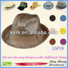 LSP19 al por mayor precio Bowknot estilo elegante 100% de papel de paja sombrero