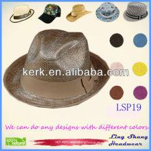 LSP19 atacado preço elegante bowknot mulheres 100% papel palha chapéu