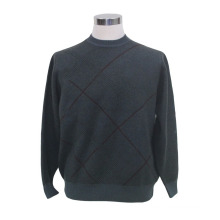 Yak Wool/Cashmere Round Neck Pullover Long Sleeve Sweater/Garment/Clothes/Knitwear