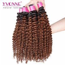 Mode brésilienne Remy Ombre Extension de cheveux