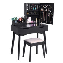 Hölzerner widergespiegelter Make-up-Eitelkeits-Schreibtisch-Schrank-Aufbereiter mit Make-up