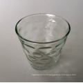 Coupe de bougie en verre cône