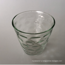 Cone glass candle cup