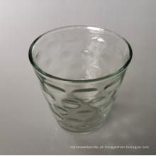 Taça de vela de vidro de cone