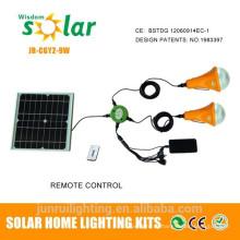 Iluminação solar para uso doméstico lanterna solar recarregável