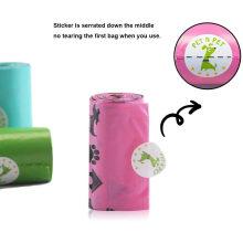 Colorful Eco-Friendly Refill Printed Pet Garbage Bag Dog Poop Bag