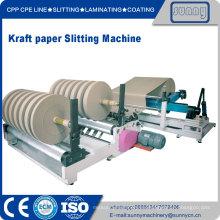 Rollo de papel de Kraft Jumbo cortadora máquina rebobinadora