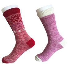 Halbe Kissen Mode halten warme Wolle Socken (JMWL01)