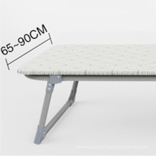 Modern Portable Steel Pipe Sun Lounger Hotel Extra Single Cot Folding Bed