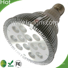 CE RoHS 12W LED PAR38 Lâmpada luz Por Lampara