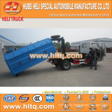 FOTON FORLAND 4x2 4.5CBM left hand drive hook arm garbage truck 98hp best price hot sale In China