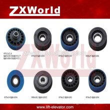 escalator step chain rubber roller