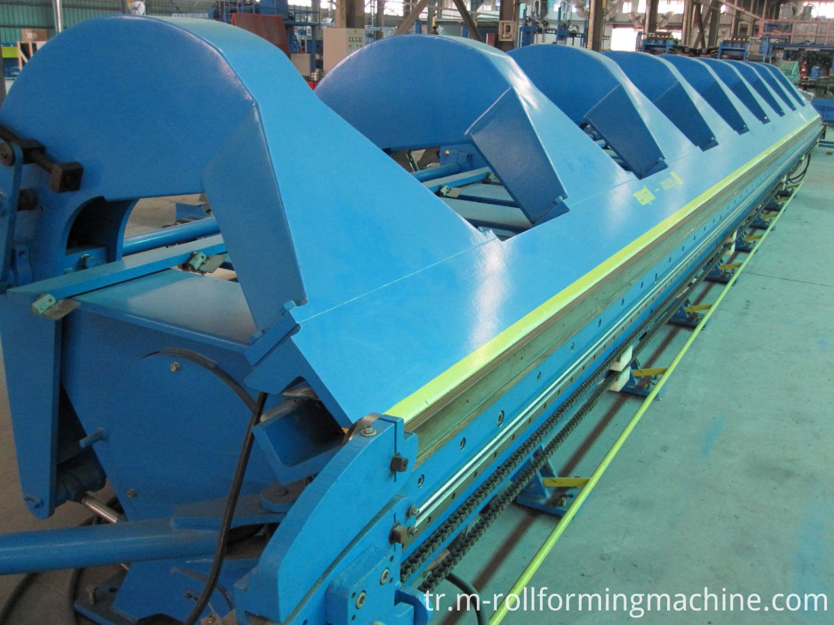 Folding machine for sheet metal
