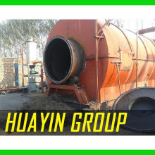L'équipe de service professionnel OTR recyclage des pneus à l'usine de pyrolyse de mazout