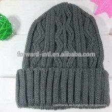 sombrero de lana de hombre de moda de plumas