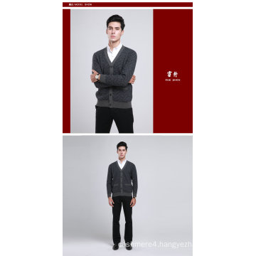 Yak Wool/Cashmere V Neck Cardigan Long Sleeve Sweater/Clothing/Garment/Knitwear