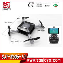 GPS Foldable drone with set height function lose control return 2.4G single GPS with 720p wifi camera PK JXD518 SJY-W606-10W