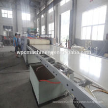 Plaque de meuble en coffrage bois composite en plastique wpc ligne de production