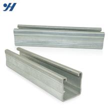 Fabriqué en Chine différentes tailles galvanisées canaux c à fente, gi acier c canal
