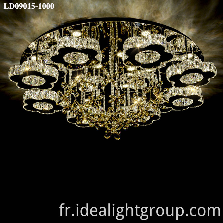 crystal dimmable chandelier led