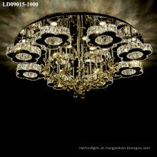 candelabro de cristal regulável levou montagem de luz de teto moderna