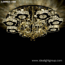 crystal dimmable chandelier led modern ceiling light fitting