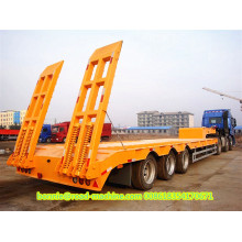 Heavy duty 3 axle low semi trailer
