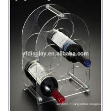 Présentoir à vin en acrylique / plexiglass