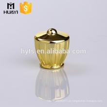 Tampa de garrafa de perfume de cor de ouro