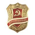 Combatant USSR Soviet Union Russian Metal Emblem