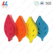 Leaves style scouring pad sponge
