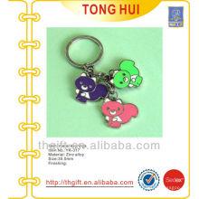 Colorful enamel bear charm novelty keychains/keyrings metal