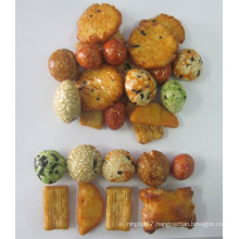 Flavored Japanese grain snack food fried rice crackers
