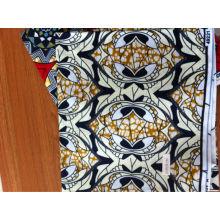 tecido de algodão real africano da cera 24 * 24/72 * 60 / laço africano
