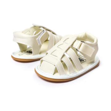 Sandalias para niños pequeños de caucho Mocasines para bebés con suela suave de goma