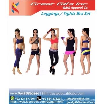 conjunto de legging de sujetador deportivo / leggings de gimnasio / ropa de gimnasio