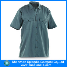 Wholesale Work Clothes Products Men Oxford Short Sleeves Shirt