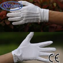 NMSAFETY barato luvas de mão de algodão branco luvas brancas