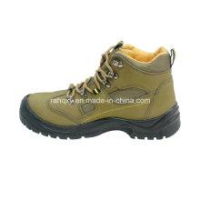 Sapatos de couro Nubuck segurança com malha forro (HQ03052)